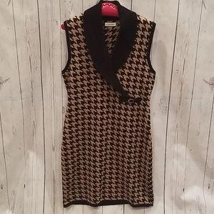 NWOT Calvin Klein Large Houndstooth Sweater Dress!